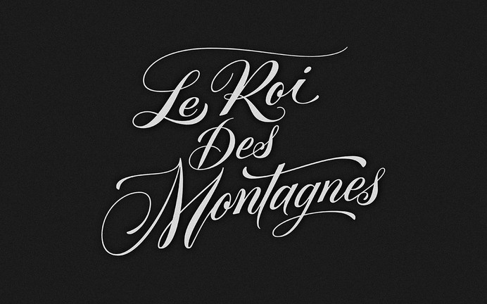 Le Roi Des Montagnes Wine #type #typography