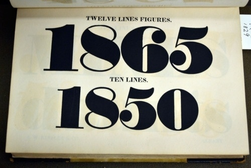 Daily Type Specimen | Large figures from the 1829 Kinsley specimen at... #font #specimen #type #typography