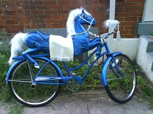 Strange Bicycle Designs | CMYBacon #bicycle #horse #art #carousel