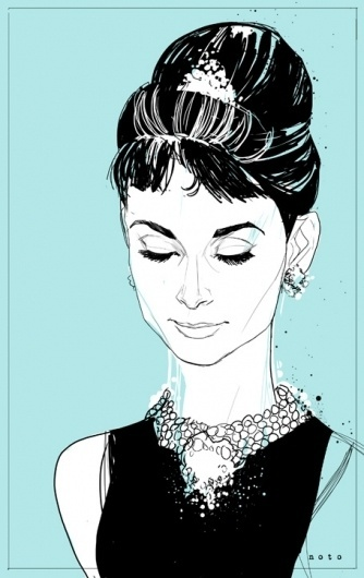 Your Nice New Outfit #audrey #illustration #green