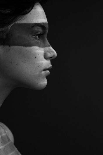 TREVOR CHRISTENSEN #blackwhite #girl #portrait #mask #fae #julia