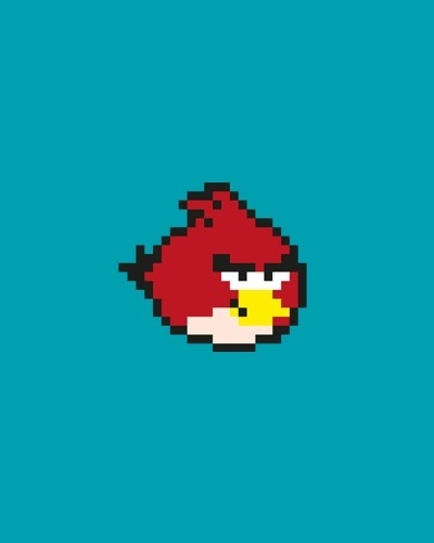 Red #angry #design #pixel #birds #art #character