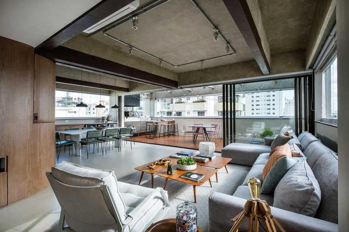 living room, Brazil / Mandarina Arquitetura