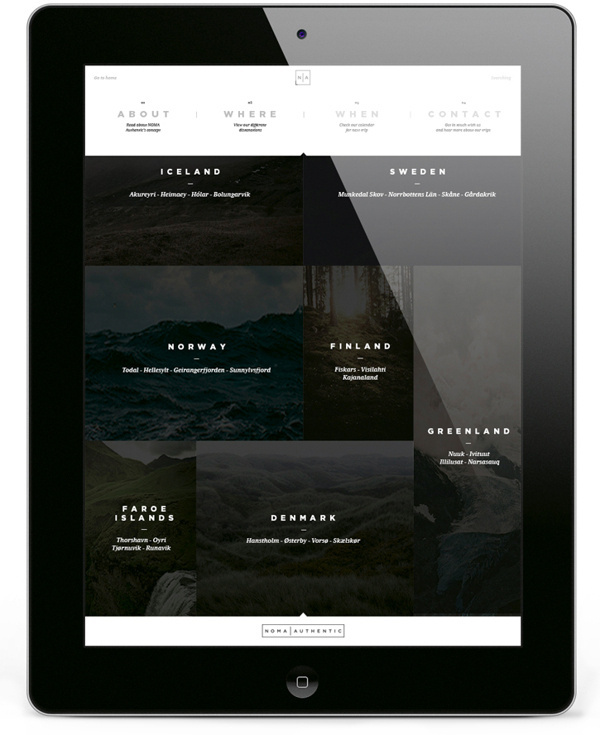 Noma Authentic | Website #ipad #web