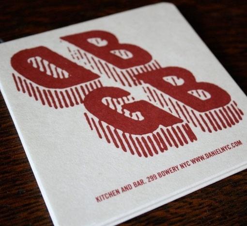 Design Work Life » cataloging inspiration daily #restaurant #identity #dbgb #coaster #typography