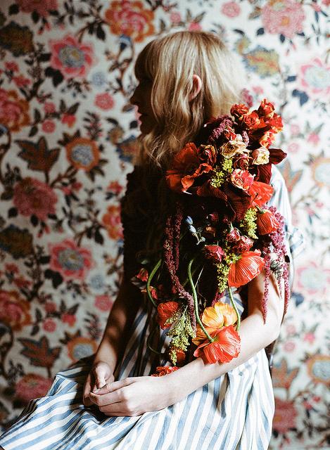 photo #woman #floral #photography #portrait #flowers