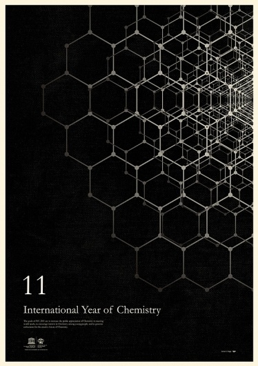 excites | Graphic Designer | Simon C Page #year #chemestry #print #graphic #poster