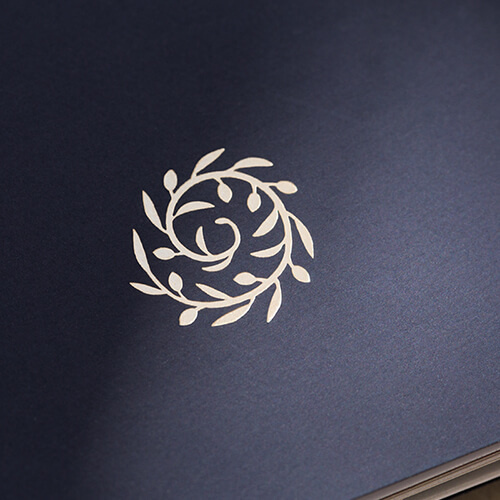 #foil #hot stamp #gold #brochure #cover