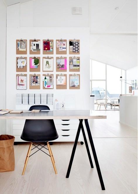 swissmiss #interior design #office #desk #eames #clipboards