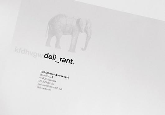 Deli_rant Restaurant & Delicatessen | Lovely Stationery #stationary #logo #corporate #branding