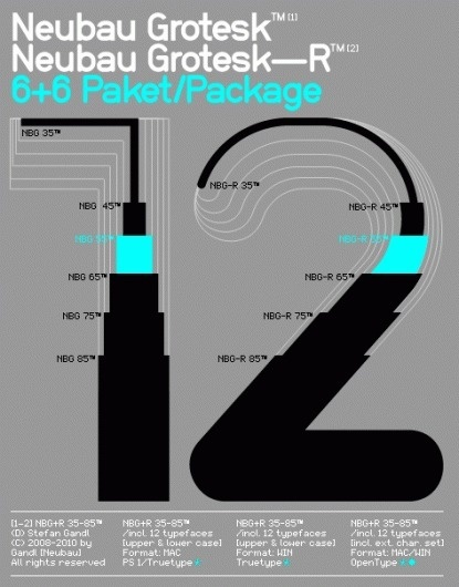 NeubauLaden Products NBG+NBG-R 35-85/Set™ #grotesk #typeface #neubauladen #neubau