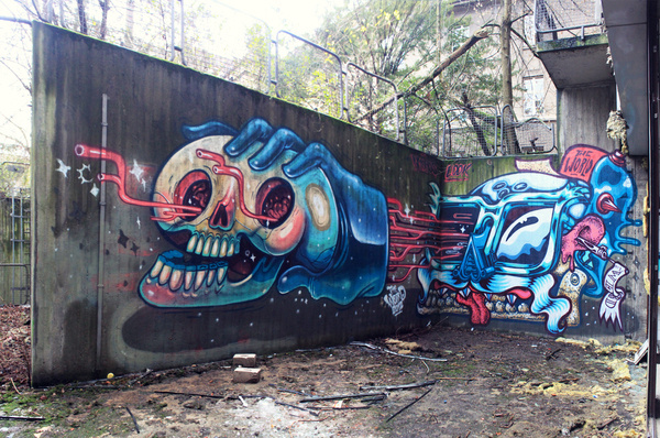 Colour in forgotten places on Behance #graffiti #paint #art #spray #awesome