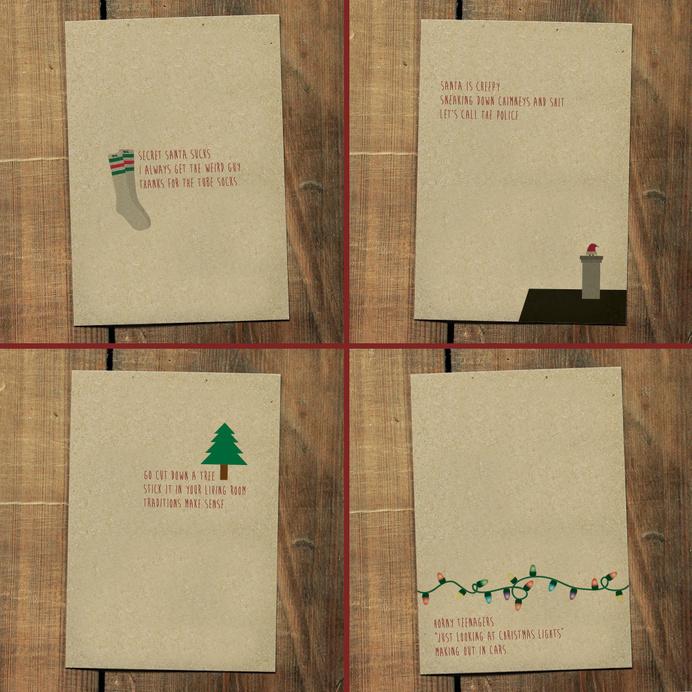 Holiday Haiku Greeting Cards and Remixed Christmas... - Some Things I Made #poem #card #design #christmas #holiday #haiku #typography