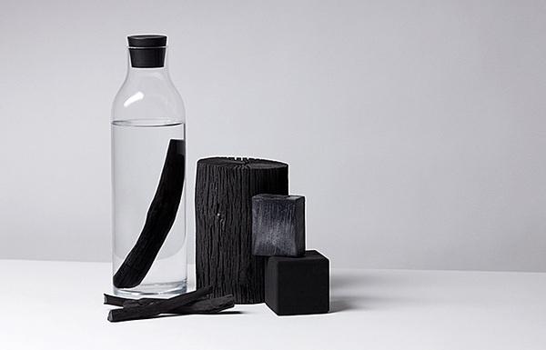 Sort of Coal #water #bottle #design #black #product #nature #coal