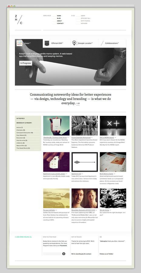 Zero Hour #site #design #website #grid #layout #web