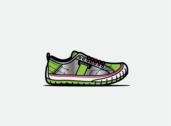 mkn design Michael Nÿkamp #pattern #lines #footwear #shoe #wolverine #illustration #style #green
