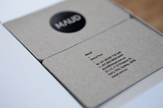 Maud Business Cards - FPO: For Print Only #business #color #chipboard #one #cards