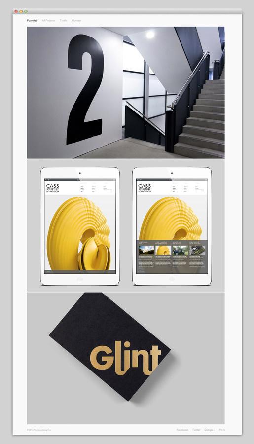 Founded #portfolio #design #website #layout #web