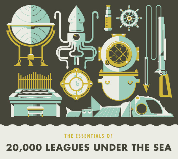 20,000 Leagues Under the Sea Illustration by Justin Mezzell #mezzell #justin #illustration