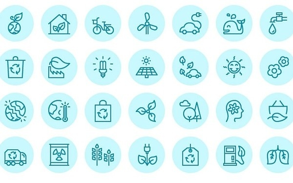 Free download: Vector Ecology icons #vector #icons