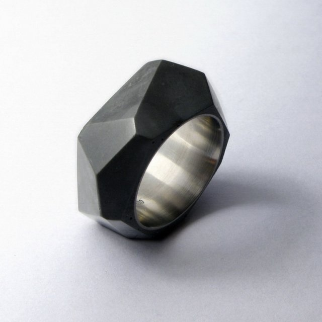 Fancy - Rock Concrete Ring by 22Designstudio #ring