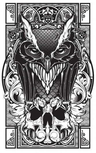 Hydro74 - Piety within Progression #illustration #white #black