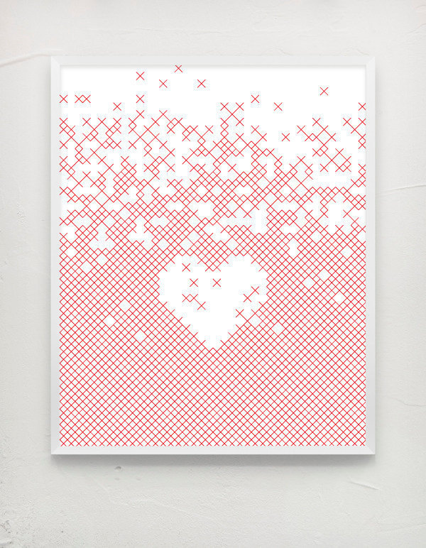 x love #heart #valentines #white #red #lines #design #graphic #xlove #clean #minimal #poster #paper #love #typography