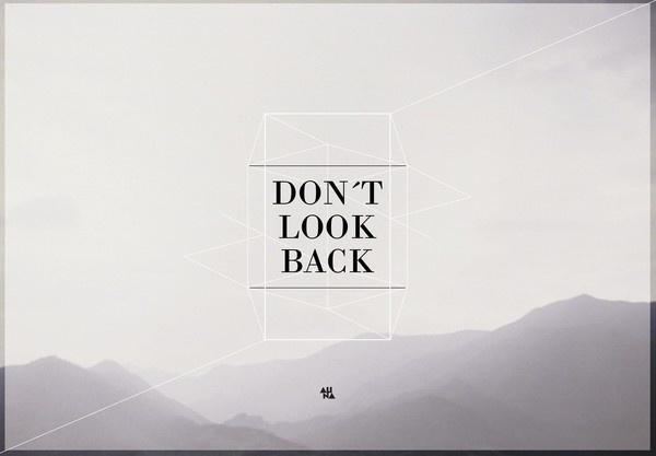 ALiNA – Random Graphics – Don´t look back, go ahead #type #image