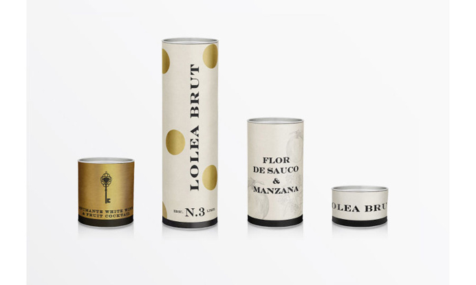 #packaging #identity #Lolea #sangria #gold #white #polkadot