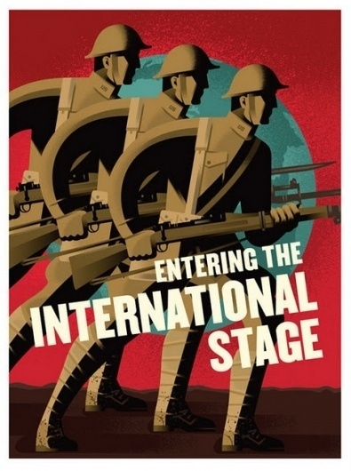 Flyer Design Goodness - A flyer and poster design blog #soldiers #war #world #illustration #1