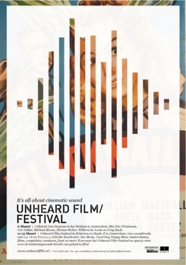 Design Fodder (Unheard Film Festival posters by 178 Aardige...) #cinema #poster