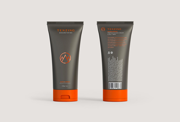 Tenzing Skincare by Mash Creative and Socio Design #packaging #tube