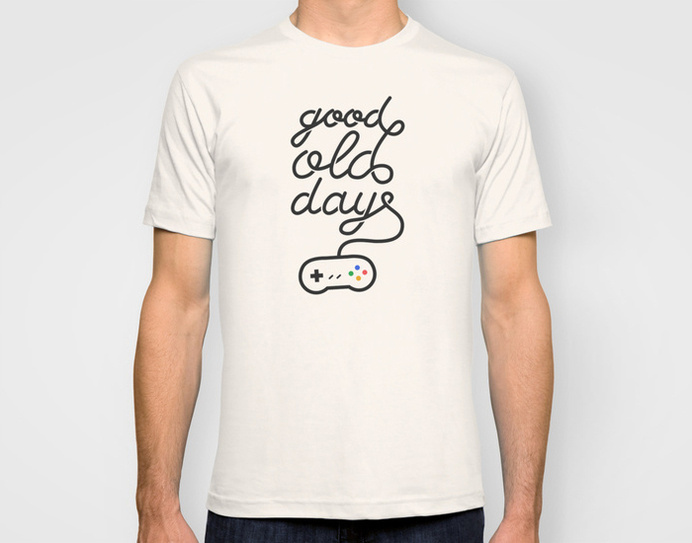 Good old days - t-shirt #t-shirt #videogame #typography