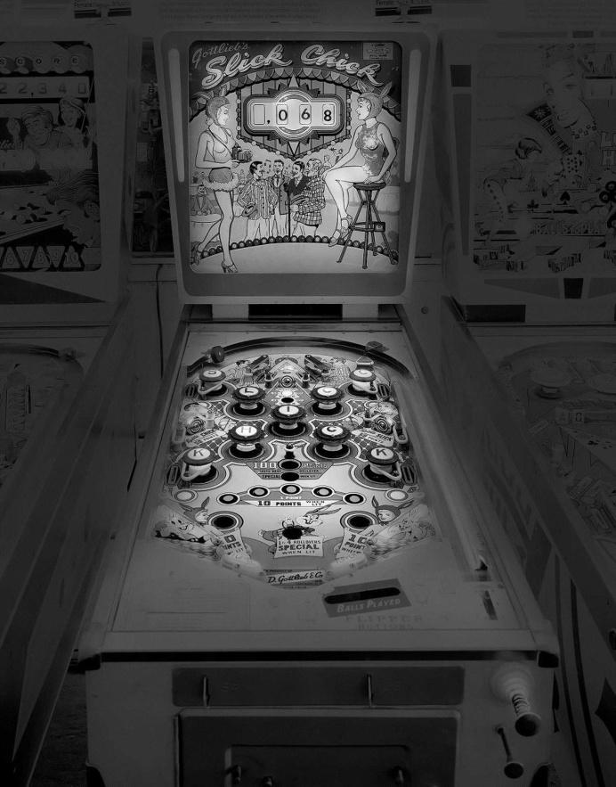 Saudade: Black and White Photos of Vintage Pinball Machines by Michael Massaia