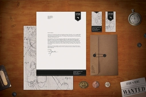 Design Work Life » Student Work: Sarah Taylor: Spion Identity and Packaging #spy #themed #packaging #store #identity
