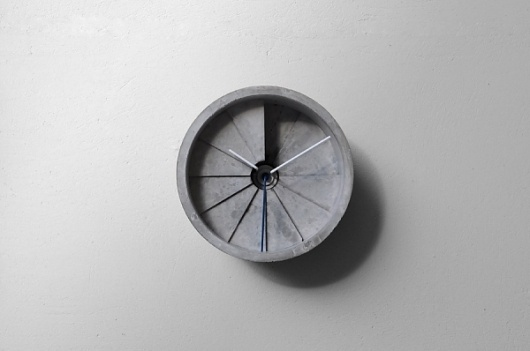 Concrete Clock | Colossal #clock #design #product