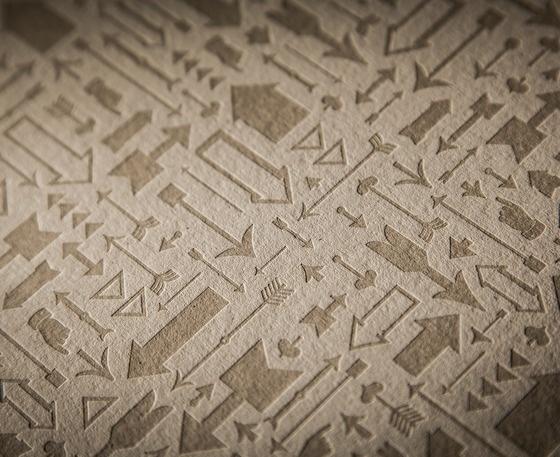 Image of Arrows Letterpress Print #print #forward #letterpress #arrows #it #saa #poster #paperreka #eames