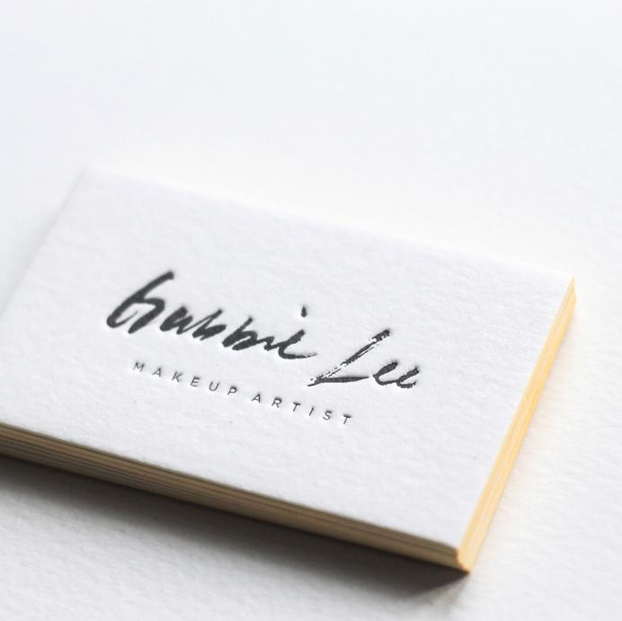 Business Card, stationary, letterpress, minimal, clean