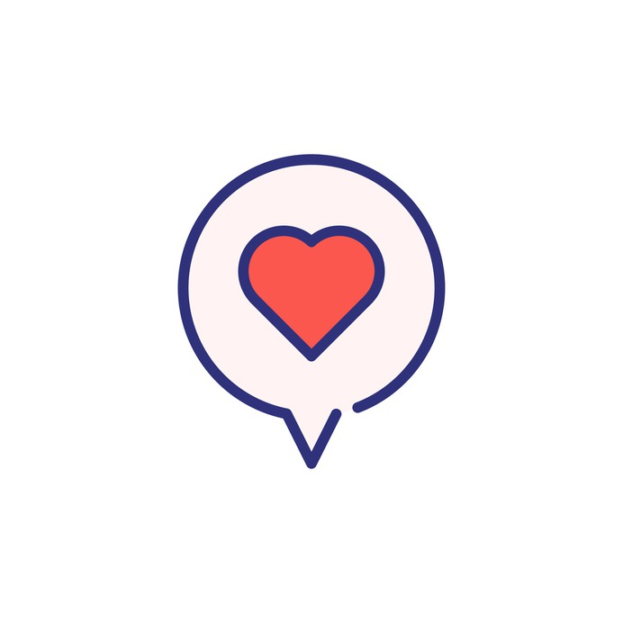 See more icon inspiration related to talk, heart, love and romance, chat bubble, conversation, communications, chat, message and interface on Flaticon.