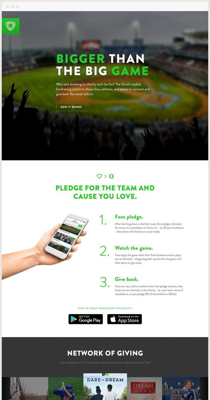 Drive Website Design Sample #webdsite #design #charity #houston