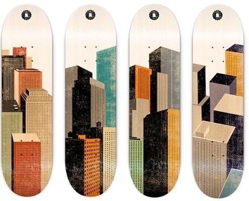 Skateboard | - Part 6 #city #illustration #color