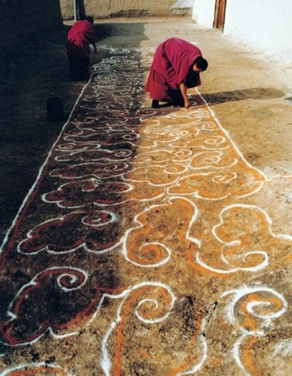 Tumblr #sand #monks #tibet #mandala