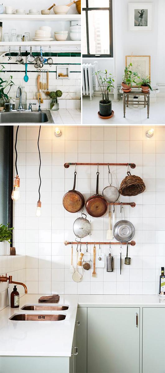 white and pale green kitchen #interior #design #decor #deco #decoration