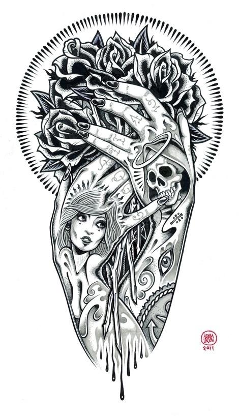 tumblr_m72dsdx9Iw1qz9v0to2_1280.jpg 470×818 pixels #illustration #tattoo