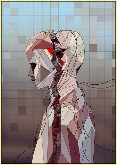 Various work 08 on the Behance Network #futurism #retro #brain #wired