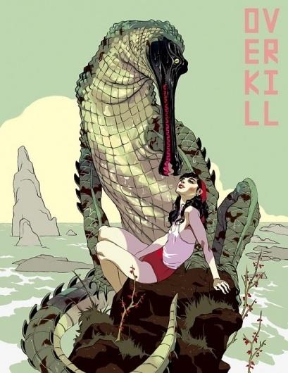 The Fox Is Black #hanuka #overkill #tomer #aligator #illustration
