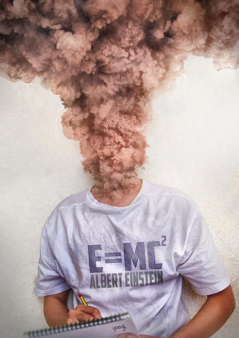 E=MC^2 by YongL #smoke #photo #brain #einstein #knowledge #manipulation #overload #genius #science #intelligence