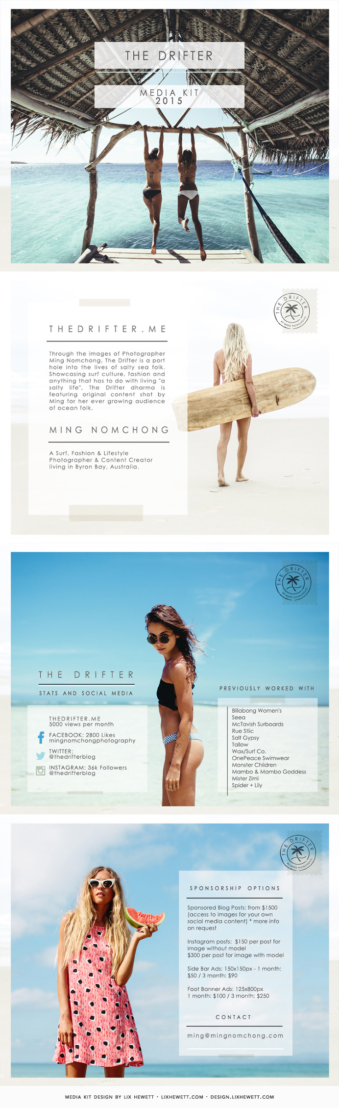 Travel Blogger PDF Media Kit Design
