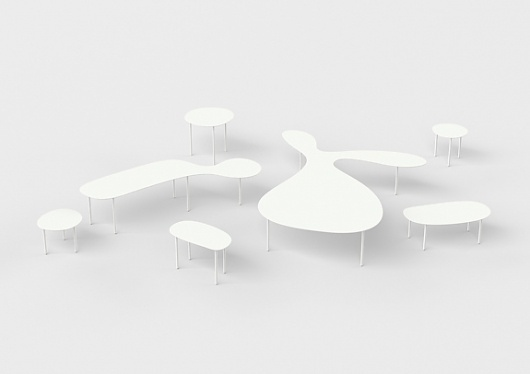 Rabbit and the Tortoise - studio juju #furniture #white #japan