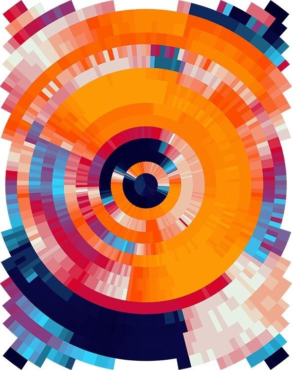 Coded Canvas - Nick Taylor #color #orange #digital #illustration #blue